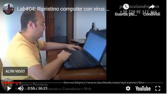 ripristino computer con virus